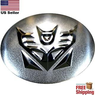 Transformers Decepticons Wheel Center Cap Window Decal   Size 2.25