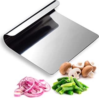 Hausfelder AIDE DE CUISINE MULTI-USAGE en acier inox 18/10 - spatule de cuisine et grattoir pizza servent comme cutter pat...