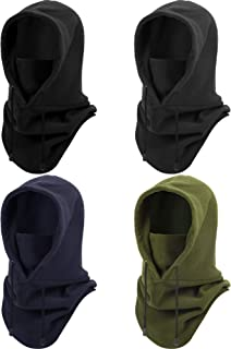 4 Pieces Winter Face Covering Balaclava Cold Weather Outdoor Sports Hats Protection from Dust Wind for Cycling Biking