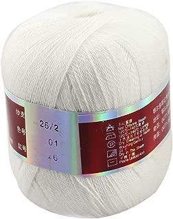 Celine lin One Skein Pure Cashmere Knitting Yarn 50g,White
