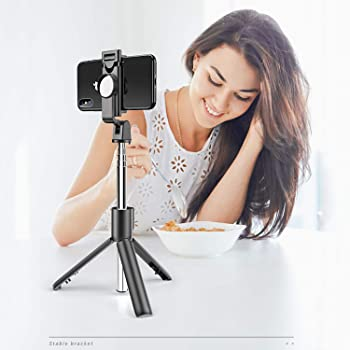 ORIbox Selfie Stick Tripod with Removable Wireless Bluetooth Remote Shutter Compatible,Compatible with iPhone and Android Phone (Phone Selfie Stick)
