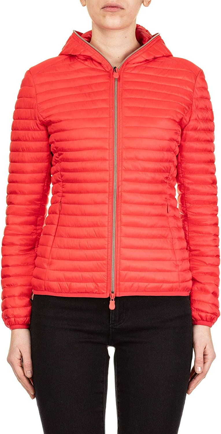 Save The Duck Women's D3362WIRIS801310 Red Polyester Down Jacket