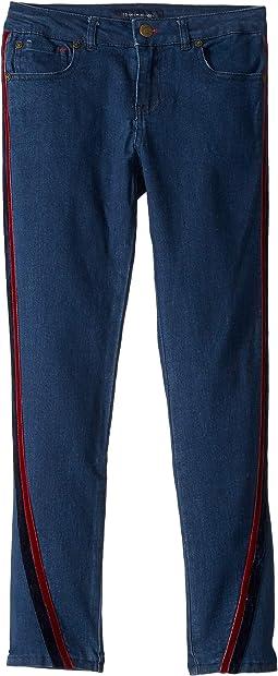 Velvet Trimmed Skinny Jeans in Madison Wash (Little Kids/Big Kids)