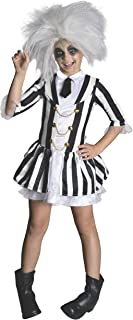 "Rubies Beetlejuice Costume, Kids Girl Beetlejuice Outfit, Medium, Age 5 - 7 years, HEIGHT 4' 2"" - 4' 6"", 610726, Multi Color"
