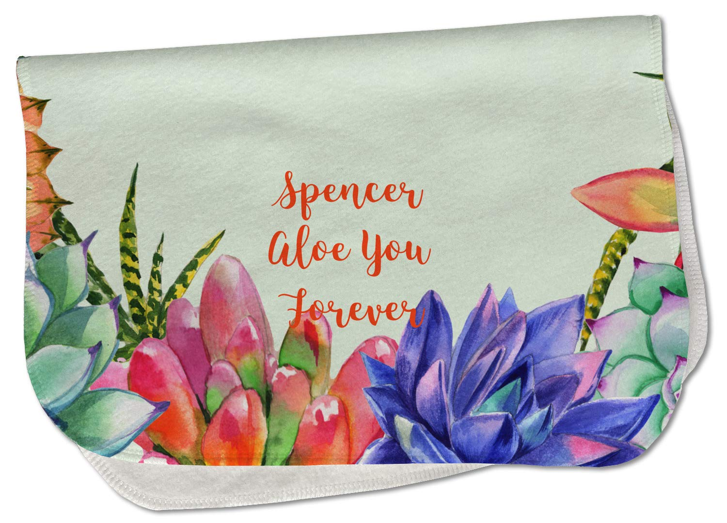 Succulents Burp Cloth All stores are sold - Ranking TOP17 Fleece w Text Name or