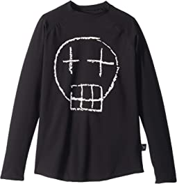 Sketch Skull Long Sleeved Rashguard (Little Kids/Big Kids)