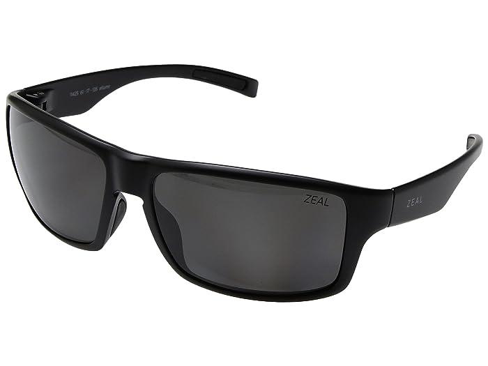 Zeal Optics  Incline (Matte Black with Polarized Dark Grey Lens) Athletic Performance Sport Sunglasses