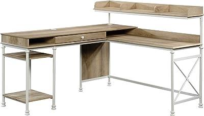Sauder Canal Street L-Shaped Desk, Coastal Oak finish