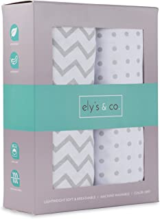 Crib Sheet Set 2 Pack 100% Jersey Cotton for Baby Girl and Baby Boy by Ely's &..