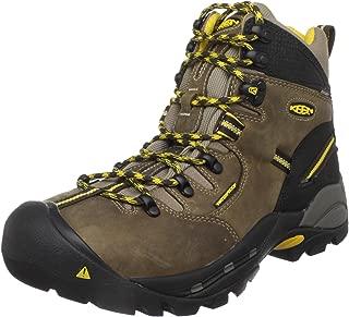 """KEEN Utility Men's Pittsburgh 6"""" Steel Toe Waterproof Work Boot,Brown/Slate Black,9.5EE"""