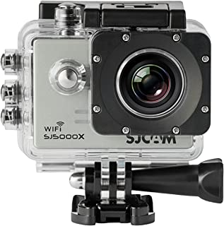 「SJCAM正規品」SJ5000X スポーツカメラ WiFi搭載 30m防水 170度広角レンズ  4K 1080P 液晶画面 HD動画対応 ハルメット式 バイクや自転車、カートや車に取り付け可能 シルバー …