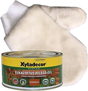 Eukalyptus Öl 0,5L Gelartiges Gartenmöbelöl Hartholzöl Meranti Teak Holzöl Set, Eukalyptus