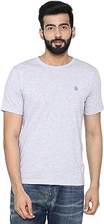 Bongio Men's Plain Half Sleeve Casual T-Shirt for Summer - Light Grey