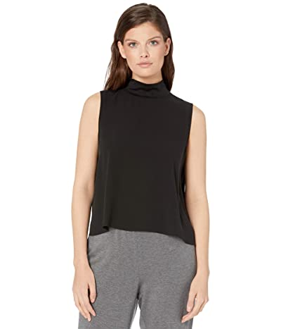 Eileen Fisher High Mock Neck Tank (Black) Women