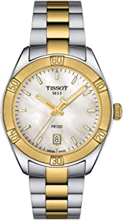 Tissot PR100 Mop Dial Two-Tone Women's Stainless Steel Watch T1019102211100