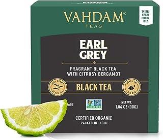 Earl Grey Citrus, 15 Tea Bags 2er-Pack, 100% NATURAL, Long Leaf Pyramid Earl Grey Teebeutel, aromatisch & köstlich, schwarzer Tee, gemischt mit natürlichem Bergamottenöl,