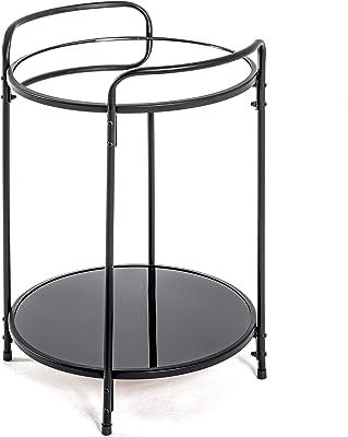 Haku Möbel Table d'appoint, Acier, Noir, Ø 37 x H 50 cm
