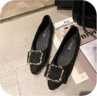 Pointed Square Toe Shoes Women's 2020 New Wild Flat Comfortable Scoop Shoes Single Shoes