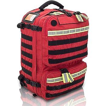 PARAMED'S Rescue & Tactical Backpack (Red) | Medium Capacity Basic Life Support (BLS) Backpack | EMS Rescue Medical Rescue Bag | First Responder | EMT Bag |