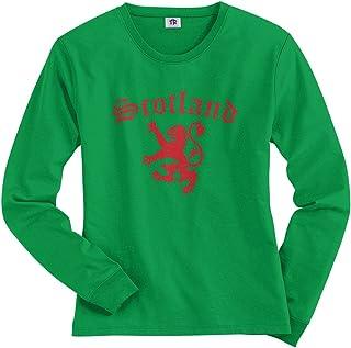 Threadrock Women`s Lion of Scotland Long Sleeve T-Shirt
