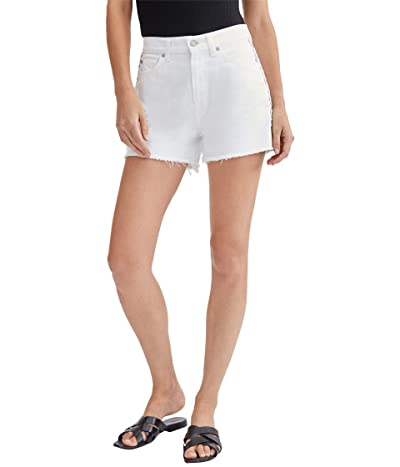 7 For All Mankind High-Waist Shorts w/ Fray Hem in Prince Street (Prince Street) Women