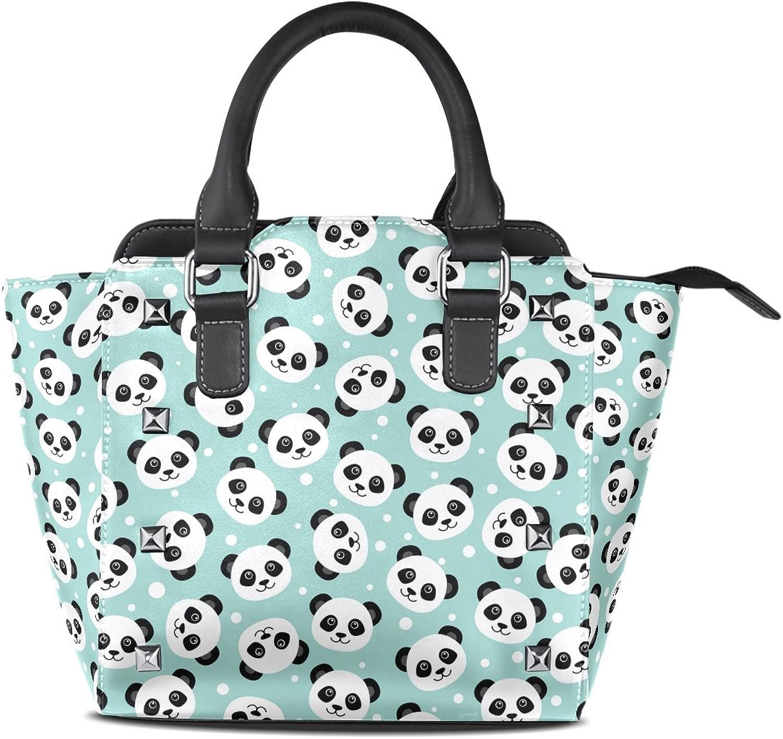 My Little Nest Women's Top Handle Satchel Handbag Cute Panda Ladies PU Leather Shoulder Bag Crossbody Bag