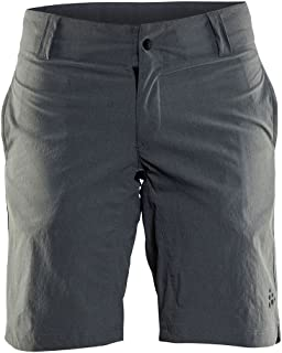 Craft Sportswear Women's Ride Commuter Bike and Cycling Reflective Shorts: Protective/Riding/Compression/Cooling