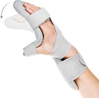 Soft Function Resting Wrist Orthosis by REAQER Night Hand Splint Support Immobilizer (R)