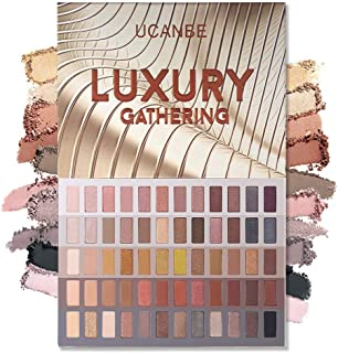 UCANBE 60 Colors Naked Eyeshadow Palette, Warm Neutral Nudes Makeup Pallet, Natural Matte Glitter Shimmer Smokey Eye Shadows Halloween Cosmetic Gift Set