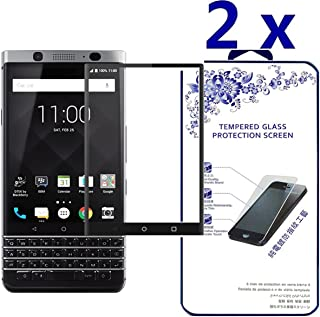 BlackBerry KeyOne / DTEK70 Screen Protector, [2-Pack] Tempered Glass Full Coverage 3D Curved High Definition [Edge to Edge] Anti-Bubble Screen Cover for BlackBerry KeyOne/BlackBerry DTEK70