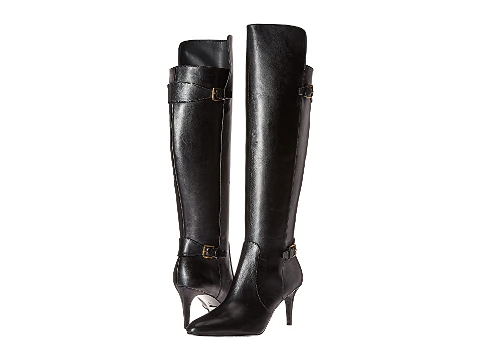 LAUREN Ralph Lauren Philena (Black Signature Burn Calf) Women