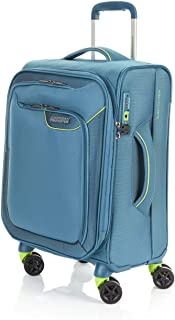American Tourister Applite 4 55cm Case Soft Suitcase Luggage Trolley Green