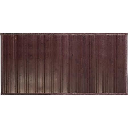 iDesign Tapete para baño, tamaño Grande, Color Oscuro, Bambú, Marrón (Moka), 122 x 61 cm
