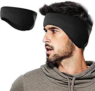Lauzq Fleece Ear Warmers/Muffs Headband for Men & Women & Kids Perfect for Cycling Skiing Workout Yoga Running & Riding Motorcycle in Winter - Stay Warm & Performance Stretch