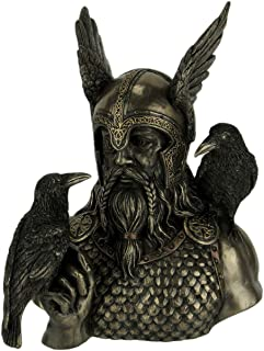 Veronese Odin Norse God with Ravens Statue Sculpture Figurine