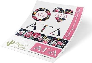 Alpha Gamma Delta Classic Floral Sticker Decal Laptop Water Bottle Car Alpha Gam (Sheet C. Floral)