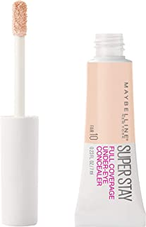 Maybelline New York Super stay full coverage, long lasting under-eye concealer, Fair, 0.23 Fluid Ounce