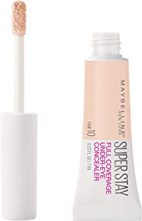 Maybelline Super Stay Super Stay Full Coverage, Brightening, Long Lasting, Under-eye Concealer Liquid Makeup For Up To 24H Wear, With Paddle Applicator, Fair, 0.23 fl. oz.