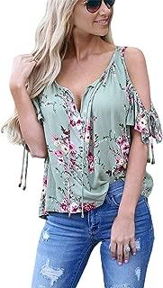 Best floral cold shoulder top Reviews