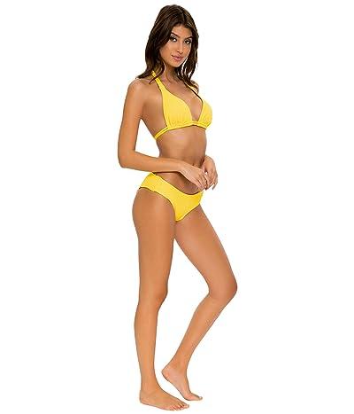 Luli Fama Playa Vibes Full Ruched Back Bottoms (Yellow) Women