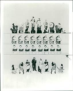 Vintage photo of Soviet Porcelain Chess Set