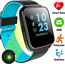 Activity Tracker with Heart Rate Monitor Smart Watch for Men Women Fitness Tracker with Blood Pressure Calorie Pedometer Sleep Monitor Smart Sport Bracelet for Teen Boys Girls Back to School Gift