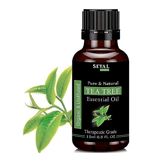 Seyal Tea Tree Essential Oil Pure & Natural Therapeutic Grade Organic, For Skin & Hair (15ml)