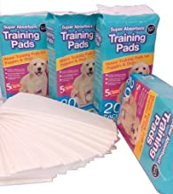 World of pets Pack of 100 Super Absorbent Premium Puppy Dog Training Pads 60 x 45cm