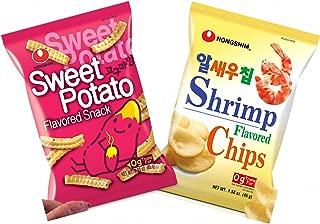 Nongshim Sweet Potato Snack, Shrimp Flavored Chips - Combo Pack (Pack of 2)