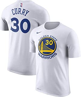 Nike Stephen Curry Golden State Warriors NBA Youth 8-20 White Dri-Fit Performance Official Player T-Shirt