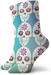 Hombres Mujeres Novedad Divertido Crazy Crew Sock Vintage Sugar Skull Impreso Sport Athletic Calcetines Calcetines de regalo personalizados