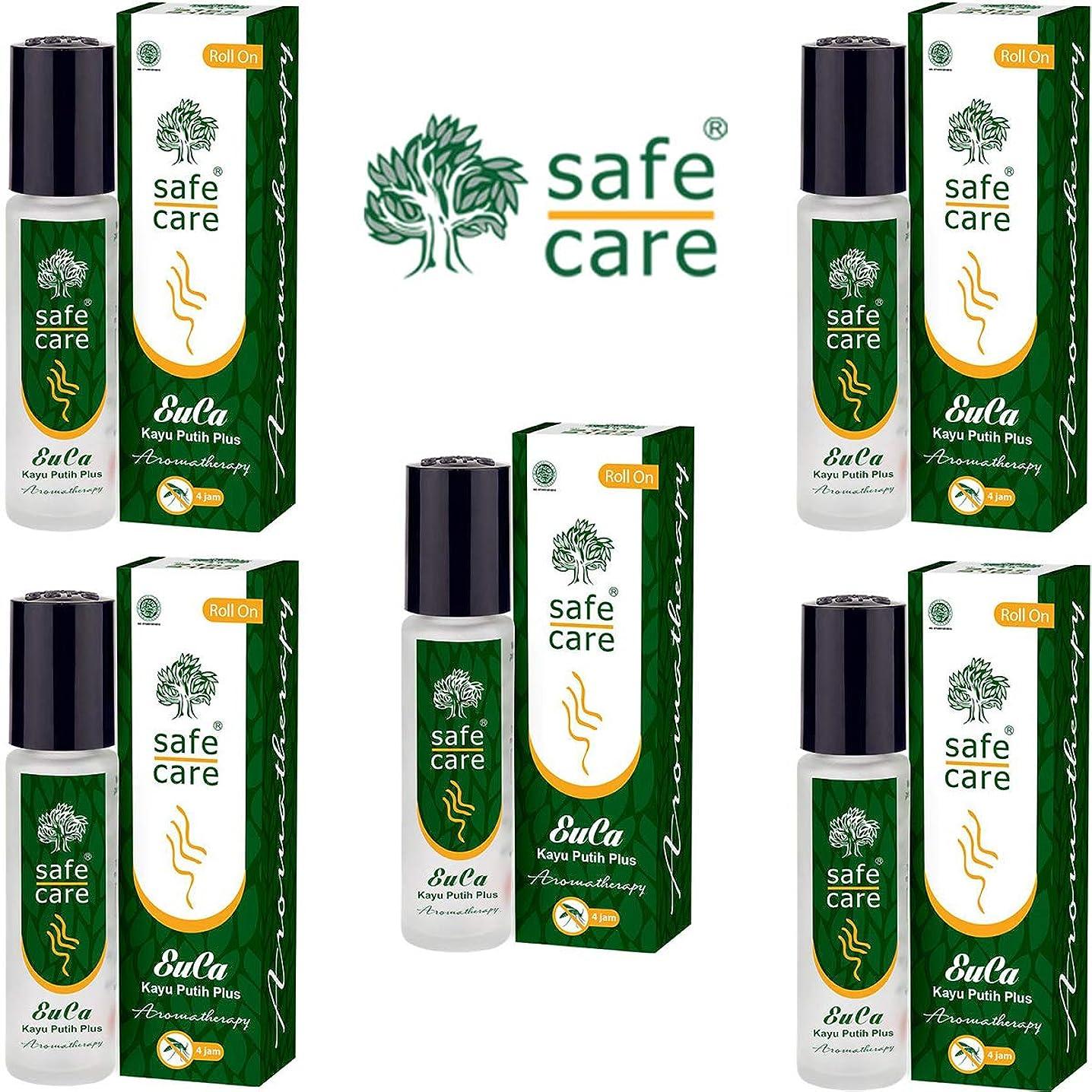 シャンプーアレイ座るSafe Care セーフケア Aromatherapy Kayu Putih Plus アロマテラピー リフレッシュオイル カユプティプラス ロールオン 10ml×5本セット [海外直送品]