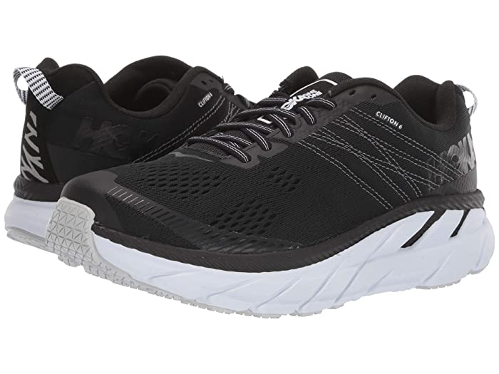 Hoka One One Clifton 6 (Black/White) Women's Running Shoes