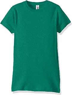 Marky G Apparel Girls MARKYG-LA2616 Sportswear Fine Jersey Longer Length T-Shirt Short Sleeve T-Shirt